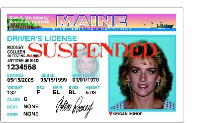 Suspended Maine License