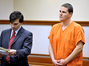 Criminal Defense Attorney Luke Rioux at a bail hearing for Derek Weeks