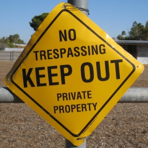 No Trespassing signs can lead to aggravated criminal trespass charges